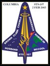 Columbia STS-107 Patch